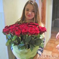 Шикарный букет из 55 красных роз - Фото 5