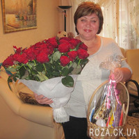 Chic bouquet of 55 red roses - Photo 6