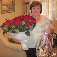 Шикарный букет из 55 красных роз - Фото 6