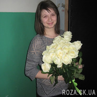 A gorgeous bouquet of 21 white roses - Photo 3