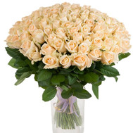 """101 cream-colored roses"" in the online flower shop roza.ck.ua"
