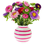 """Asters in a bouquet"" in the online flower shop roza.ck.ua"