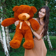 Huge Meter Teddy Bear with delivery - flowers and bouquets on roza.ck.ua