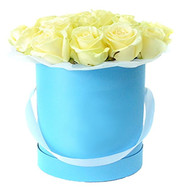 """15 white roses in a box"" in the online flower shop roza.ck.ua"