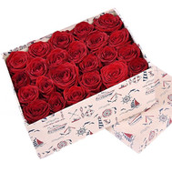 25 roses in a square box - flowers and bouquets on roza.ck.ua