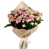 """A beautiful bouquet of bush and ordinary roses"" in the online flower shop roza.ck.ua"
