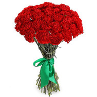 Red carnations in a bouquet - flowers and bouquets on roza.ck.ua