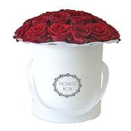 Красные розы в коробке - цветы и букеты на roza.ck.ua