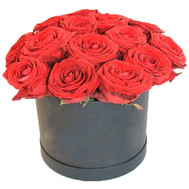 """Red roses in a low box"" in the online flower shop roza.ck.ua"