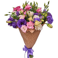 Lysianthus in Kraft - flowers and bouquets on roza.ck.ua