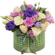 """Small box with flowers a little box with flowers"" in the online flower shop roza.ck.ua"