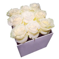 """Small square box with roses"" in the online flower shop roza.ck.ua"