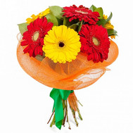 A small bouquet of gerberas - flowers and bouquets on roza.ck.ua