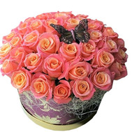 """Chic bouquet in a box"" in the online flower shop roza.ck.ua"