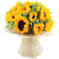 Sunny bouquet of sunflowers - flowers and bouquets on roza.ck.ua