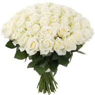 A gorgeous bouquet of white roses - flowers and bouquets on roza.ck.ua