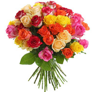 Bright bouquet of 51 roses - flowers and bouquets on roza.ck.ua