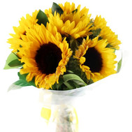 Bright bouquet of sunflowers - flowers and bouquets on roza.ck.ua