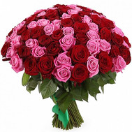 """101 roses in an unusual bouquet"" in the online flower shop roza.ck.ua"