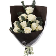 Bouquet for the New Year from white roses - flowers and bouquets on roza.ck.ua