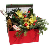 """Exclusive Christmas box"" in the online flower shop roza.ck.ua"