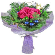 """A small Christmas bouquet"" in the online flower shop roza.ck.ua"