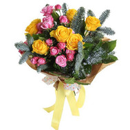 """A cute Christmas cake"" in the online flower shop roza.ck.ua"