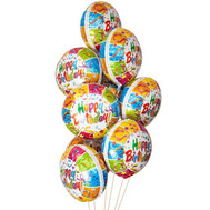 """Foiled balls for Birthday"" in the online flower shop roza.ck.ua"