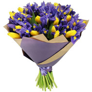 """101 tulip and iris"" in the online flower shop roza.ck.ua"