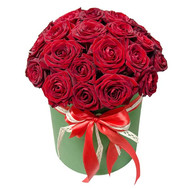 25 red roses in a box - flowers and bouquets on roza.ck.ua