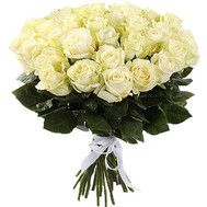 31 white imported rose - flowers and bouquets on roza.ck.ua