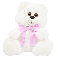 """White little Bear"" in the online flower shop roza.ck.ua"
