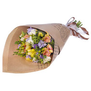 """Bouquet of freesias in paper"" in the online flower shop roza.ck.ua"