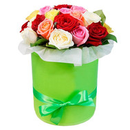 Charming box with roses - flowers and bouquets on roza.ck.ua