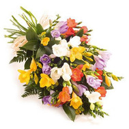 """Funny bouquet of freesias"" in the online flower shop roza.ck.ua"