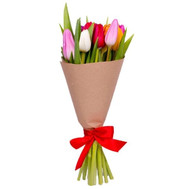 """Multicolored tulips in paper"" in the online flower shop roza.ck.ua"