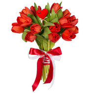 Tulips for Valentine's Day - flowers and bouquets on roza.ck.ua