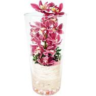 """""""Ветка красной орхидеи в стекле"""" в интернет-магазине цветов roza.ck.ua"""