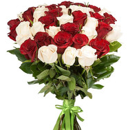 Beautiful bouquet of imported roses - flowers and bouquets on roza.ck.ua