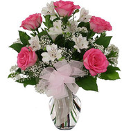 """White and pink bouquet"" in the online flower shop roza.ck.ua"