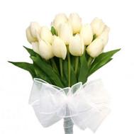 Букет белых тюльпанов - цветы и букеты на roza.ck.ua