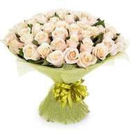 """Bouquet of 51 Cream Roses"" in the online flower shop roza.ck.ua"
