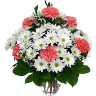 """Bouquet of carnations and chrysanthemums"" in the online flower shop roza.ck.ua"