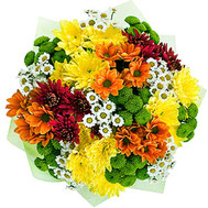 """Bouquet of multicolored chrysanthemums"" in the online flower shop roza.ck.ua"