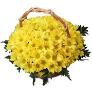 Цветочная корзина из хризантем - цветы и букеты на roza.ck.ua
