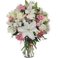 Mixed bouquet in soft colors - flowers and bouquets on roza.ck.ua