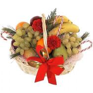 Новогодняя корзина Черкассы - цветы и букеты на roza.ck.ua
