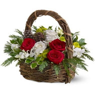 """Christmas basket"" in the online flower shop roza.ck.ua"