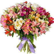 """Bright bouquet of alstroemerias"" in the online flower shop roza.ck.ua"