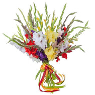 """21 gladiolus in bouquet"" in the online flower shop roza.ck.ua"